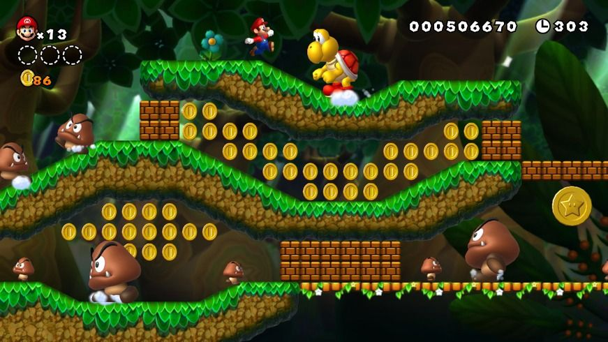 Mario sur WII U : New Super Mario Bros U